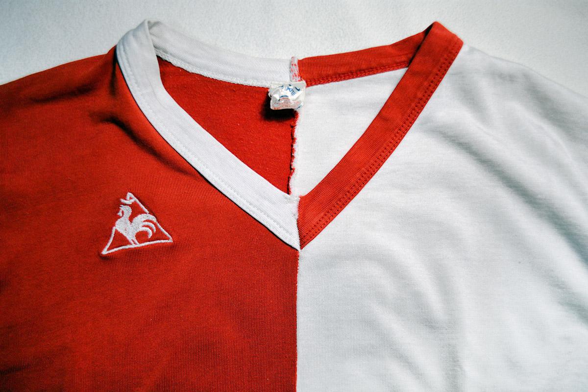 1973-1974 - Nr. 9 Theo de Jong, Feyenoord Matchworn LeCoq Sportif Shirt