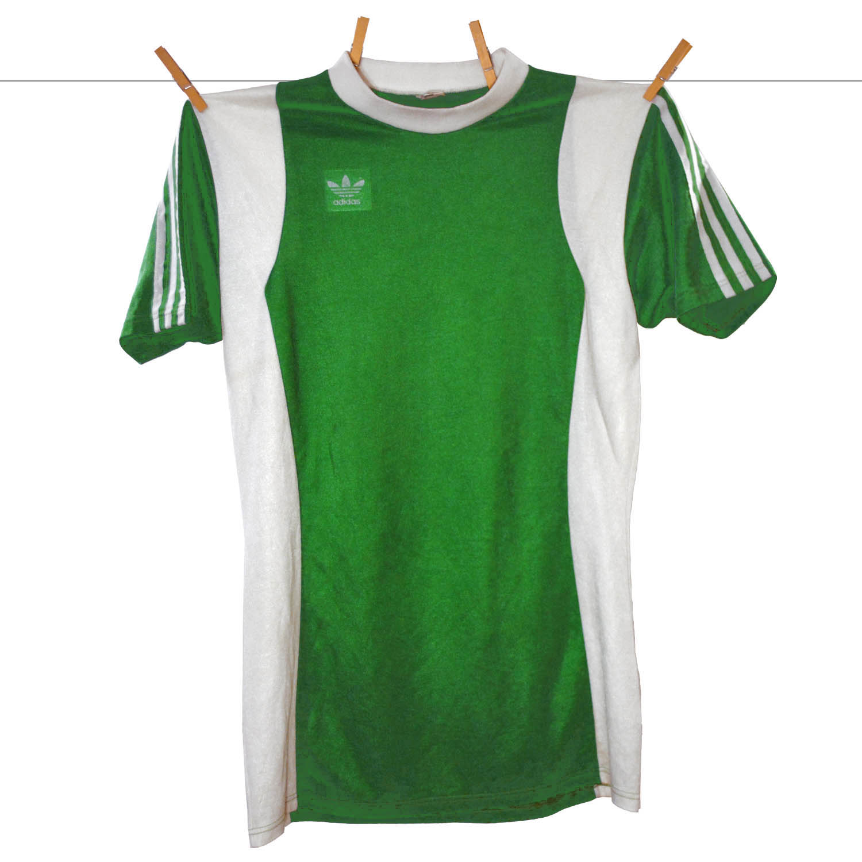 1977 - 1978, Matchworn Adidas Erima Feyenoord uitshirt, Groen