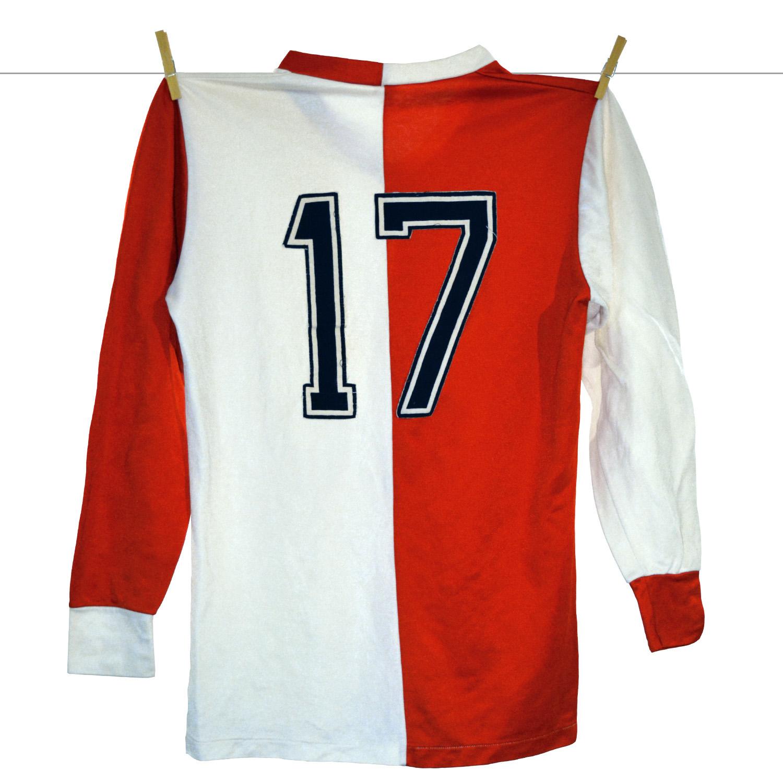 1980 - 1981, Adidas Erima Feyenoord Matchworn Thuisshirt, Nr. 17