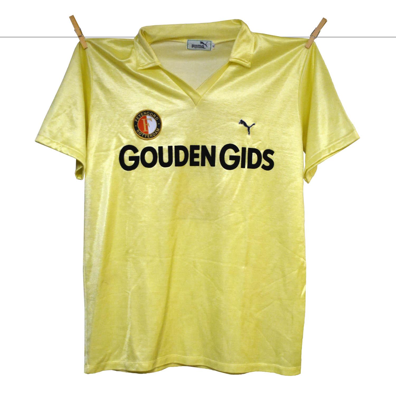 1983 - 1984, Matchworn Puma Feyenoord Shirt, Uitshirt, Peter Houtman