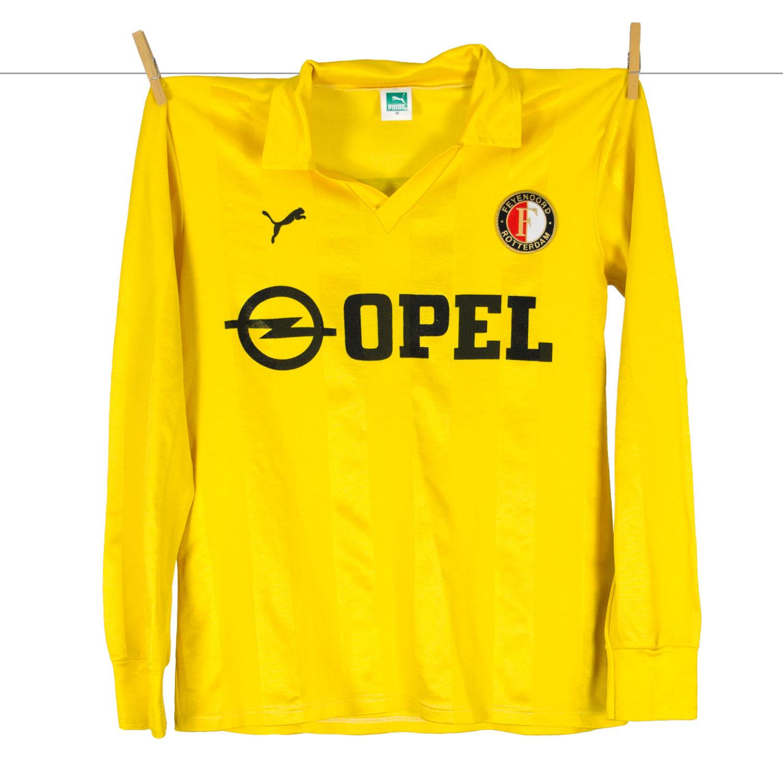 1985 - 1986, Matchworn PUMA Opel Feyenoord uitshirt, Nr 9