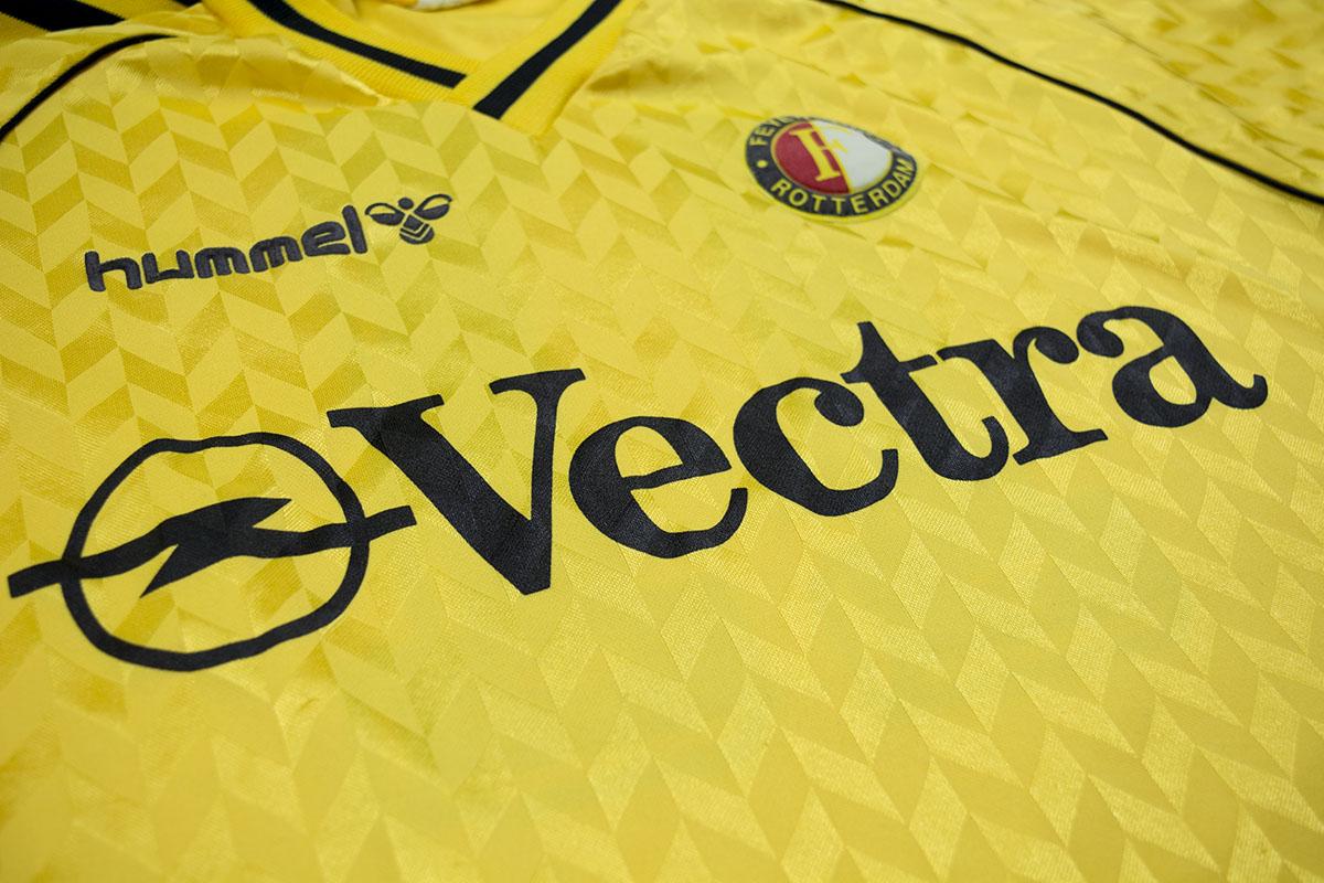 1988 - 1989 matchworn Feyenoord OPEL Vectra Hummel uitshirt