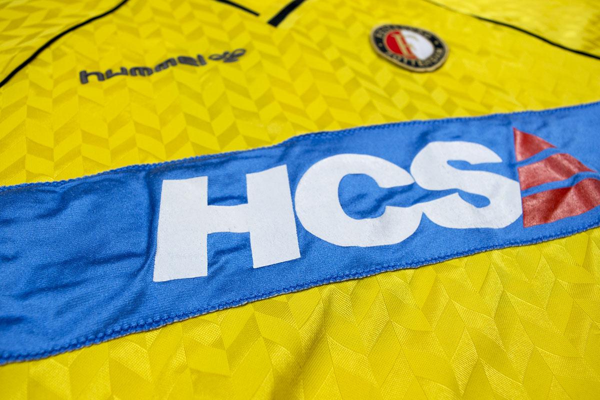 1989 - 1990, HCS Patch (blauw), Hummel, Uitshirt Geel
