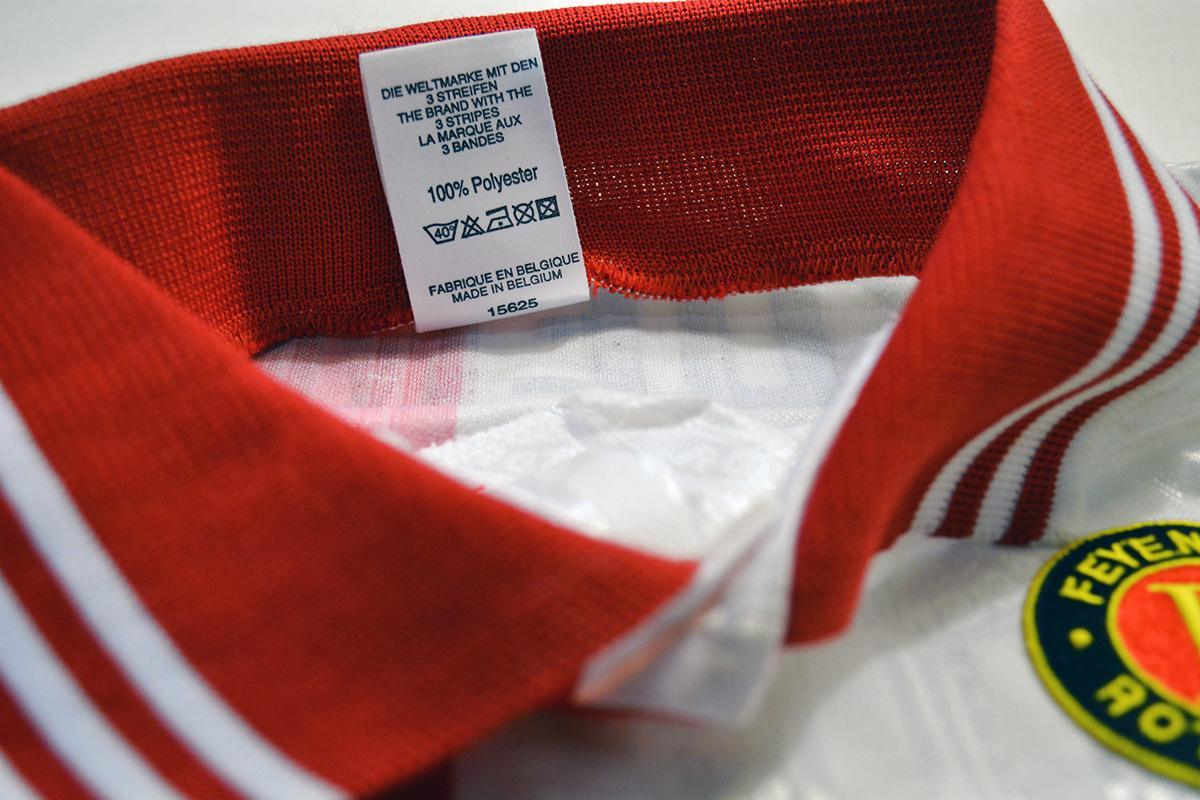 1995 - 1996, Matchworn Feyenoord European Shirt, Nr. 4 - Ronald Koeman