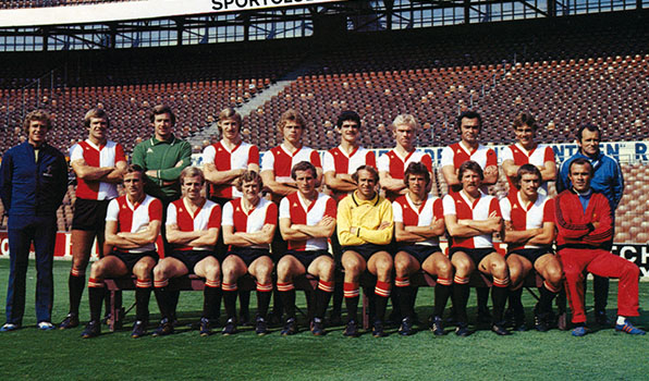 Feyenoord Elftalfoto 1976 - 1977