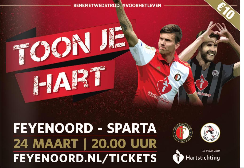 Feyenoord - Sparta - Benefiet Hartstichting