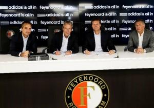 Feyenoord en Adidas ondertekenen contract 2013