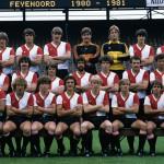 Feyenoord elftalfoto 1980 - 1981