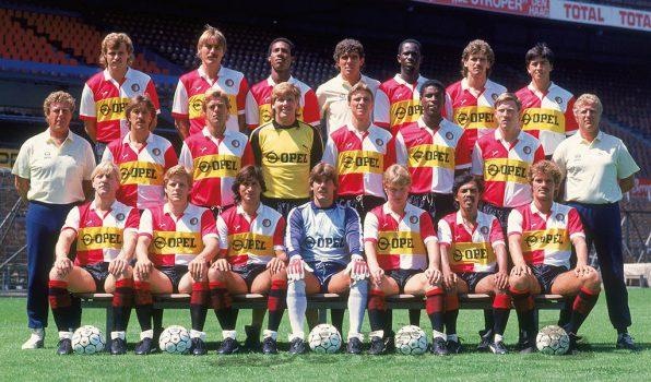 Feyenoord elftalfoto 1985-1986