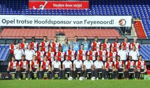 Feyenoord elftalfoto 2013 - 2014