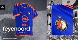 Feyenoord uitshirt 2015 - 2016, Blauw met Oranje